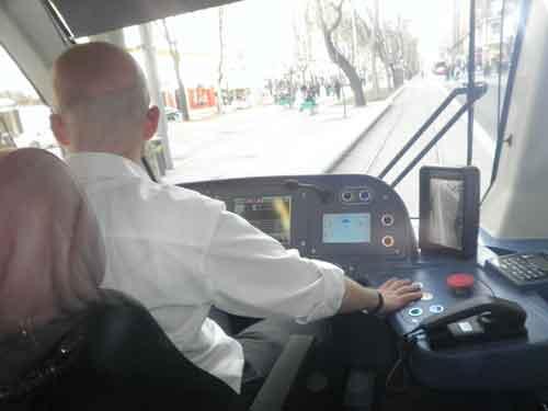 Cabina del tranvía
