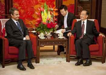 Reunión de Zapatero con los chinos