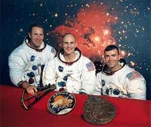 Los tres astronautas del Apolo XIII