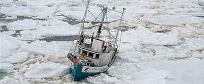 Barco con problemas