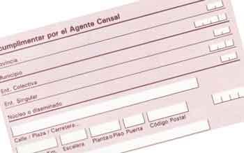 Impreso del censo