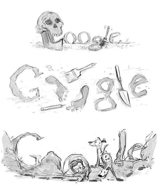 3 proyectos doodle Mary Leakey