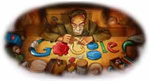 Felices fiestas te desea Google