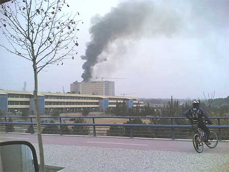 Incendio en el hospital Miguel Servet