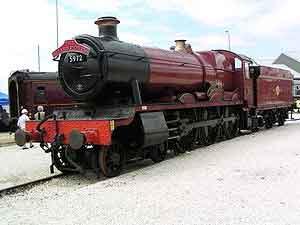 Locomotora utilizada como el Expreso de Hogwarts en las películas de Harry Potter.