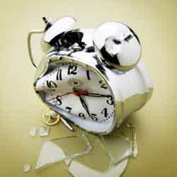 Reloj roto por cambio de horario