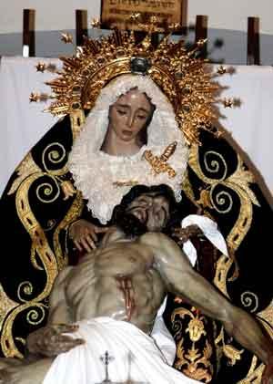 Paso de la Virgen de Las Angustias en La Línea de la Concepción