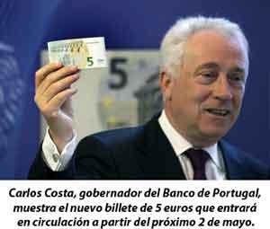 Nuevo billete de cinco euros