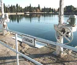 Toma de agua en Zaragoza