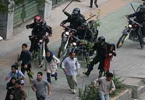 Represión en Irán