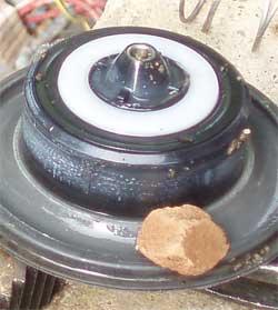 Piedra en una válvula