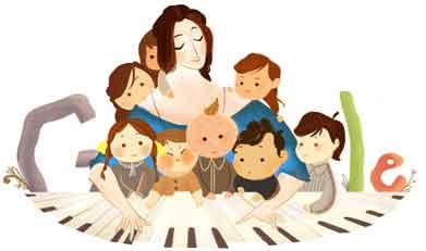 193º aniversario del nacimiento de Clara Schumann