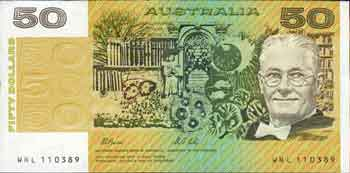 Billete de 50 dólares australianos de Howard Florey