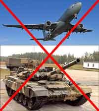 Sin tanques y sin aviones
