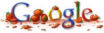 Google con la tomatina