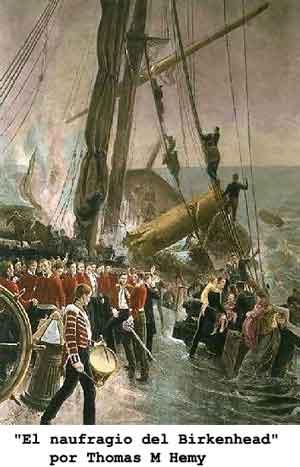 """""""El naufragio del Birkenhead"""" por Thomas M Hemy"""