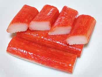 Palitos de cangrejo, uno de los productos derivados del surimi.