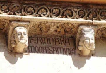 Inscripción de uno de los matrimonios entre dos de las cabezas