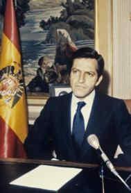 Adolfo Suárez, el día que anunció su dimisión, en 1981. EFE