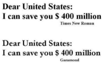 Queridos Estados Unidos: yo puedo ahorrarles $ 400 millones