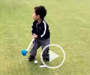 el golfista más pequeño del mundo