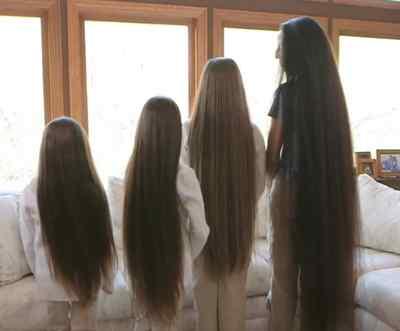 Mujer que no se ha cortado el pelo en toda su vida