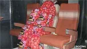 Patatas en los aviones