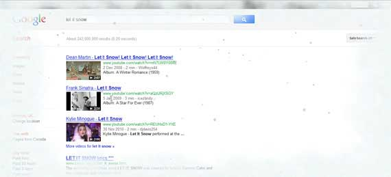 Nieve en Google