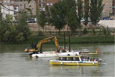 Dragas en el Ebro