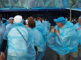 Impermeables en la Expo