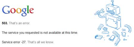 Error al buscar con Google