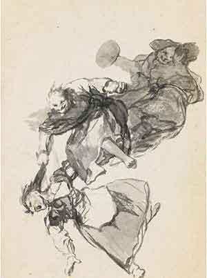Bajan riñendo de Goya