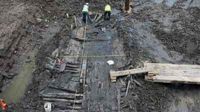Encuentran restos de un barco del siglo XVIII en la Zona Cero de Nueva York.