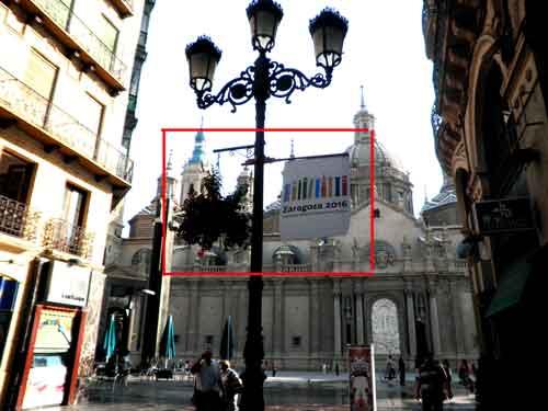 Carteles en Zaragoza promocionando la candidatura 2016