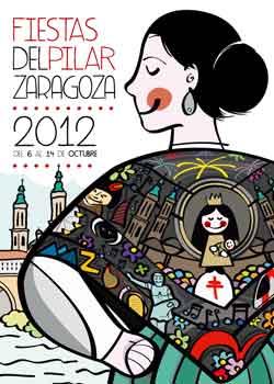 Cartel de las fiestas del Pilar 2012