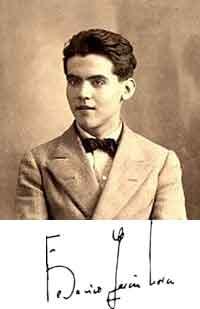 Federico García Lorca y firma