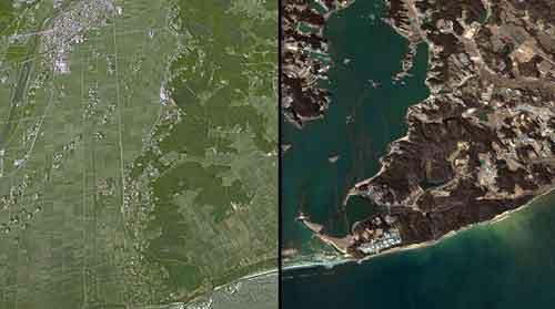 Terremoto en Japón: Antes y después