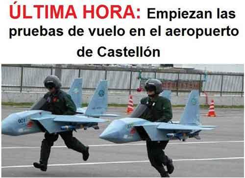 Primeras pruebas de vuelo en el aeropuerto de Castellón
