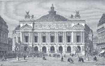 La Ópera de París en 1875. Grabado extraído de Charles Nuitter