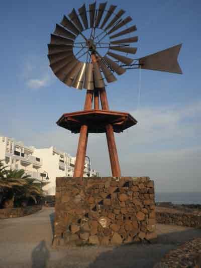 Molinos de viento en Lanzarote