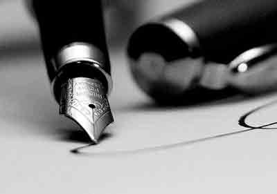 Firmando un contrato