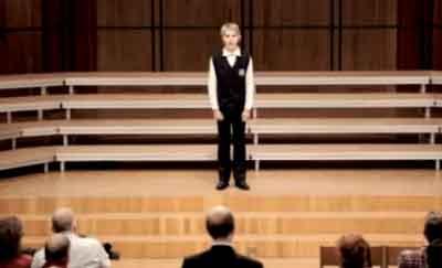 El coro que dejó helado al público