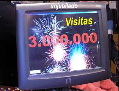 Tres millones de visitas