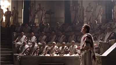 Cicerón hablando en el Senado Romano