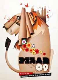 Cartel de las fiestas del Pilar 2009