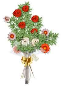 Ramo de flores en la ofrenda