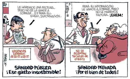 Sanidad pública y privada