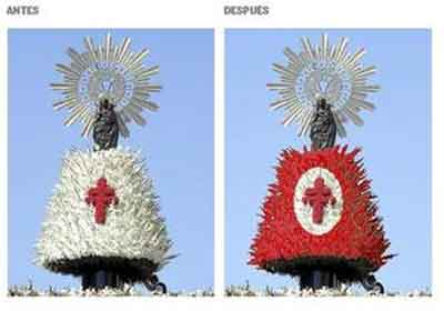 Antes y después del cambio de color