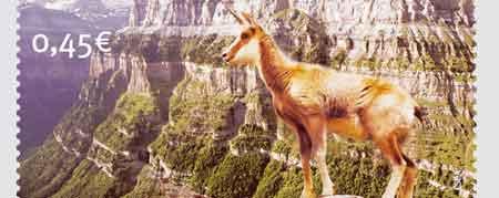 Sello dedicado al Parque Nacional de Ordesa