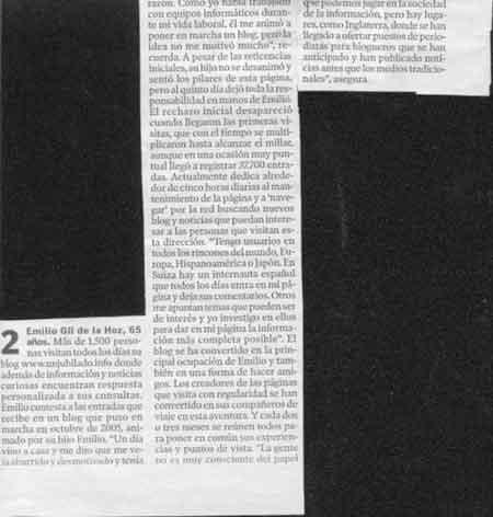 Texto en el Heraldo